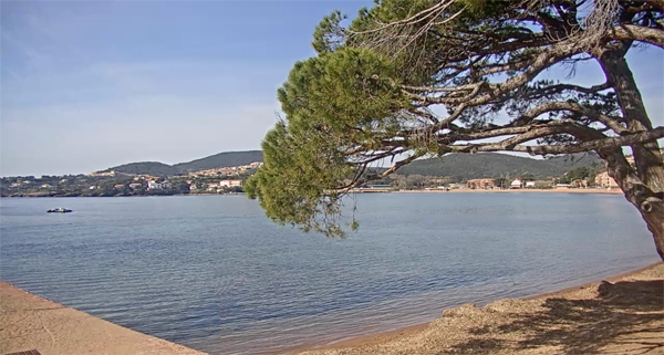 Vue webcam Agay Plage