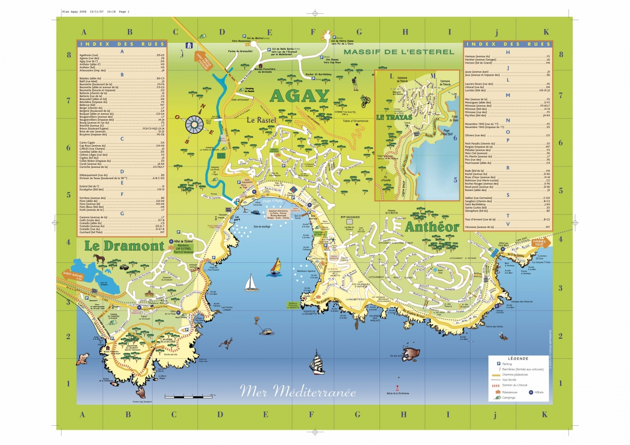 Map of Agay